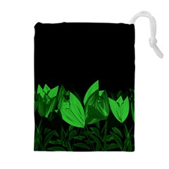 Tulips Drawstring Pouches (Extra Large)
