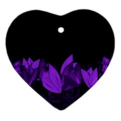 Tulips Heart Ornament (Two Sides)