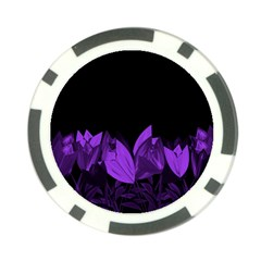 Tulips Poker Chip Card Guard (10 pack)
