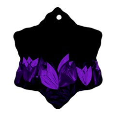 Tulips Snowflake Ornament (Two Sides)