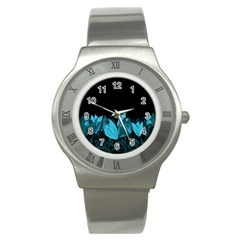 Tulips Stainless Steel Watch