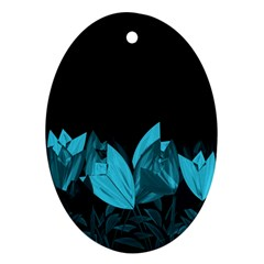 Tulips Oval Ornament (Two Sides)