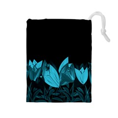 Tulips Drawstring Pouches (Large)