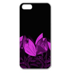 Tulips Apple Seamless iPhone 5 Case (Clear)