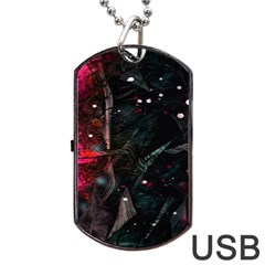 Abstract design Dog Tag USB Flash (Two Sides)