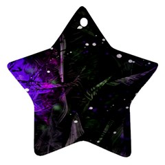 Abstract design Star Ornament (Two Sides)