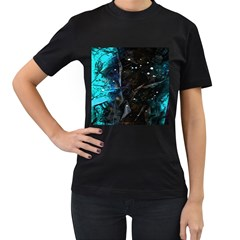 Abstract design Women s T-Shirt (Black) (Two Sided)