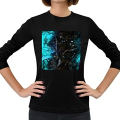 Abstract design Women s Long Sleeve Dark T-Shirts
