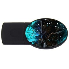 Abstract design USB Flash Drive Oval (4 GB)