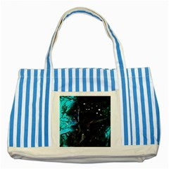 Abstract design Striped Blue Tote Bag