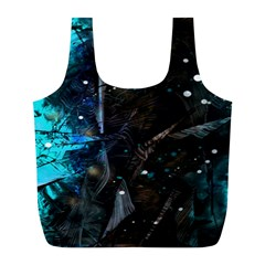 Abstract design Full Print Recycle Bags (L)