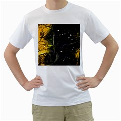 Abstract design Men s T-Shirt (White) (Two Sided)
