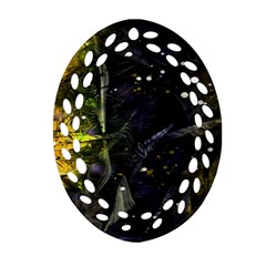 Abstract design Oval Filigree Ornament (Two Sides)