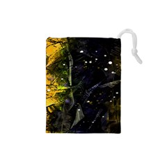 Abstract design Drawstring Pouches (Small)