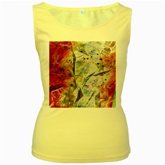 Abstract design Women s Yellow Tank Top