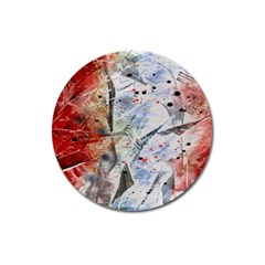 Abstract design Magnet 3  (Round)