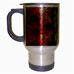 Abstract design Travel Mug (Silver Gray)