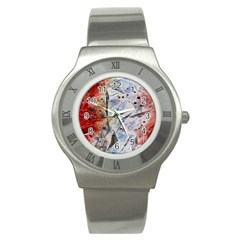 Abstract design Stainless Steel Watch