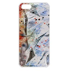 Abstract design Apple iPhone 5 Seamless Case (White)