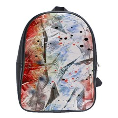 Abstract design School Bags (XL)