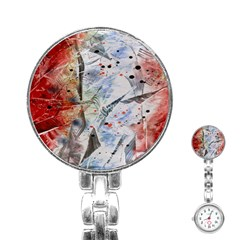 Abstract design Stainless Steel Nurses Watch