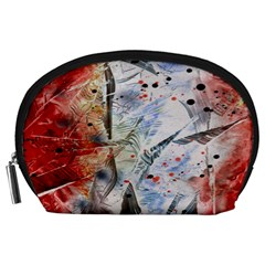 Abstract design Accessory Pouches (Large)