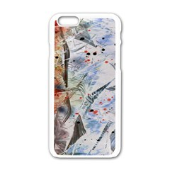 Abstract design Apple iPhone 6/6S White Enamel Case