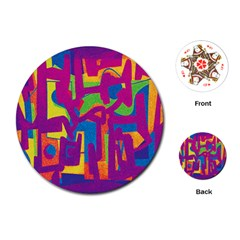 Abstract art Playing Cards (Round)