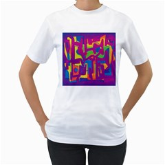 Abstract art Women s T-Shirt (White)