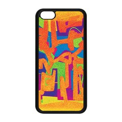 Abstract art Apple iPhone 5C Seamless Case (Black)