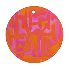 Abstract art Round Ornament (Two Sides)