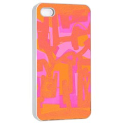 Abstract art Apple iPhone 4/4s Seamless Case (White)