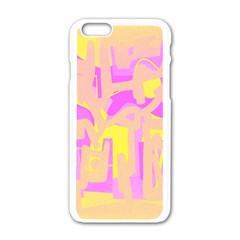 Abstract art Apple iPhone 6/6S White Enamel Case