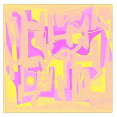 Abstract art Large Satin Scarf (Square)