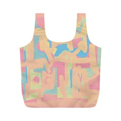 Abstract art Full Print Recycle Bags (M)