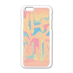 Abstract art Apple iPhone 6/6S White Enamel Case