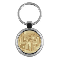 Abstract art Key Chains (Round)