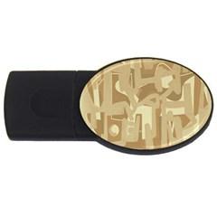 Abstract art USB Flash Drive Oval (1 GB)