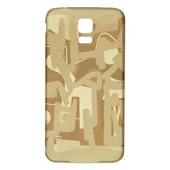 Abstract art Samsung Galaxy S5 Back Case (White)