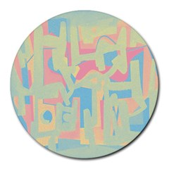Abstract art Round Mousepads