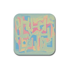 Abstract art Rubber Coaster (Square)