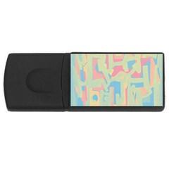 Abstract art USB Flash Drive Rectangular (4 GB)