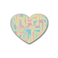 Abstract art Heart Coaster (4 pack)