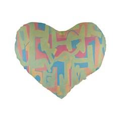 Abstract art Standard 16  Premium Heart Shape Cushions