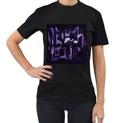 Abstract art Women s T-Shirt (Black) (Two Sided)