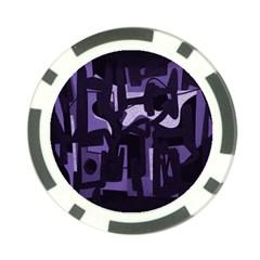 Abstract art Poker Chip Card Guard