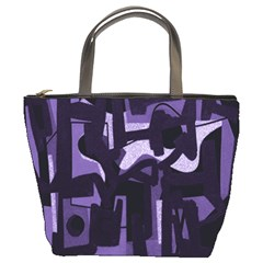 Abstract art Bucket Bags