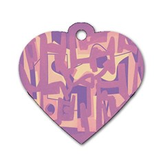 Abstract art Dog Tag Heart (Two Sides)