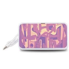 Abstract art Portable Speaker (White)