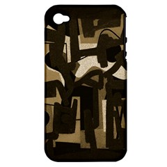 Abstract art Apple iPhone 4/4S Hardshell Case (PC+Silicone)